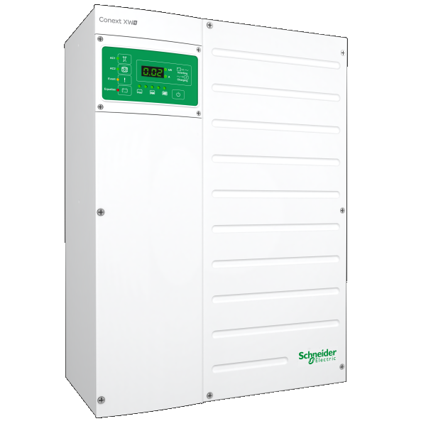 SCHNEIDER, XW+7048 E, BATTERY INVERTER, GRID TIE, 5.5 KW, 48 VDC, EXPORT, 230VAC 50HZ, 865-7048-61