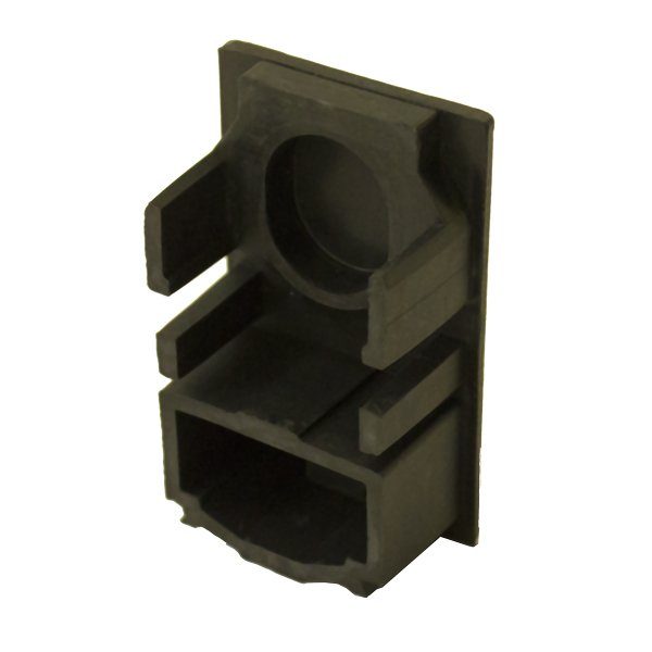 SNAPNRACK, STANDARD RAIL END CAP, BLACK