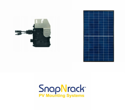 1.14KW GRID TIE SOLAR KIT WITH 4 REC 285 WATT PANELS AND 4 ENPHASE IQ6 MICROINVERTERS